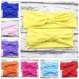 mom band Promo Codes - 2 pcs 1 Set Mom and Baby Headband Bow Knot Elastic Head Bands Newborn Hair Accessories Kids and Mommy Headwrap
