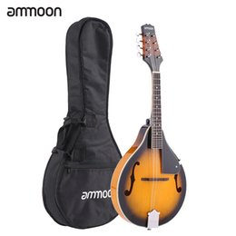 Wholesale String Body Bridge - Wholesale- ammoon A-Style Mandolin 8 Strings High Quality Basswood Body Rosewood Bridge Fingerboard with Gig Bag