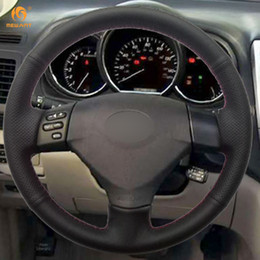 Wholesale toyota verso - Mewant Black Artificial Leather Steering Wheel Cover for Lexus RX330 RX400h RX400 2004 2005 2006 2007 Toyota Corolla Verso 2006