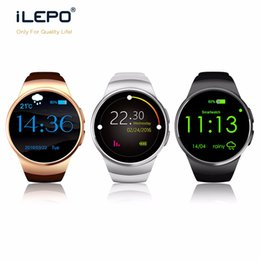 Wholesale Android Apple Sync - Smartwatch KW18 smart bluetooth watch with Waterproof Fashion Heart Rate Sync Heart Rate Monitor Pedometer watch for IOS and Android watches