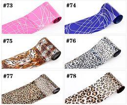 Wholesale Nail Foils Rolls - Roll Tiger Fur Fashion Lady Nail Art Glue Transfer Foil Tips Toes Decor Sticker free shipping