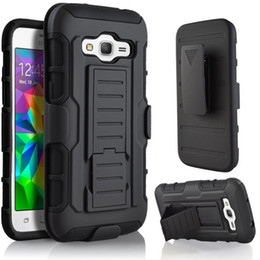 Wholesale Skin Galaxy Duos - Future Armor Rugged Heavy Duty Defender Holster Case For Samsung Galaxy Ace4 Core 2 Grand Prime Duos A5 J3 J7 Cover Skin Kickstand Belt Clip