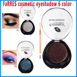 Wholesale Pearl Smile - FaRRES cosmetic eyeshadow glam shadow Smile bright pearl eye shadow 6 color diamond eye shadow cream