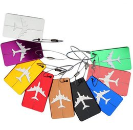 Wholesale Aluminium Luggage - Aluminium Alloy Travel Luggage Tags Suitcase Luggage Bag Tags, Travel ID Bag Tag Airlines Baggage Labels