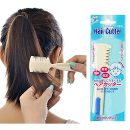 Wholesale Diy Combs - Wholesale- 1pcs Home DIY Cut Hair Thinning Slim Trimmer Comb Hair Cutting Bangs Tails Simple Easy to use Hair Makeup Styling Tools