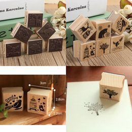 Wholesale Wholesale Wooden Animals Stamps - Wholesale- Beautiful Design Best Price Cute DIY Retro Vintage Forest Animal Diary Album Scrapbook Wooden Rubber Stamp Good For Collection
