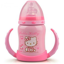 Wholesale Baby Flask - Wholesale- Retail Pink Hello Kitty Blue Doraemon Stainless Steel 6~12Hours Insulation 120ML Baby Kid Vacuum Flask Water Bottles
