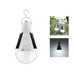 Wholesale Solar Panel Camp - 7W Solar Powered Lamp Portable Led Bulb Lamp Solar Energy Lamps Rechargeable Emergency Lights Lamp Solar Panel Camping Tent Night Light