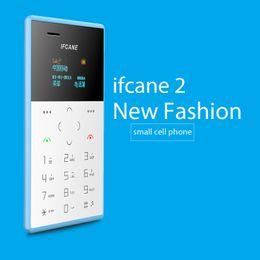 Wholesale Mini Phone Qwerty - new style small size IFcane E1 Card phone mini mobile phone ultra thin mini credit card phone FM Radio mini cheap phones