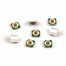 Wholesale 3w Red Led Diodes - Wholesale- High Power 1-3W CRI 80 LED Chip Red 660nm Blue 450nm Plant Grow Light Lamp LED Chip Light Beads Diodes Bulb
