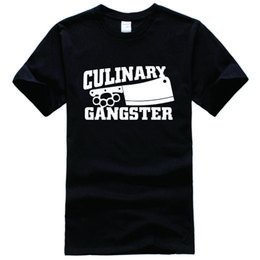 Wholesale Chef Prints - Culinary Gangster Chef prep Cook food Tee Shirt Unisex fashion women men short sleeve funny shirt 6 size