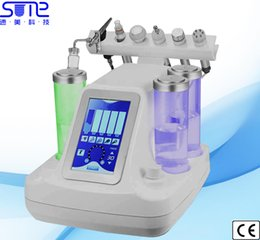 Wholesale Skin Cleasing - 6 in 1 Water Peel Hydro Facial Skin Care Face Deep Cleasing Sprayer RF Face Lift Ultrasound BIOLymphatic Drainage Beauty Machine