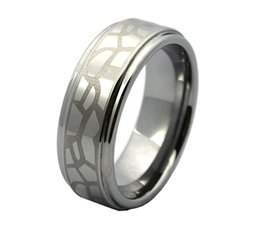 Wholesale laser tungsten - Shardon hot selling mens tungsten carbide laser Lord of the rings wedding rings have in stock