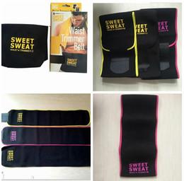 Wholesale Trimmer Belts - 2017 Sweet Sweat Premium Waist Trimmer Men Women Belt Slimmer Exercise Ab Waist Wrap 3 color With retail box C699