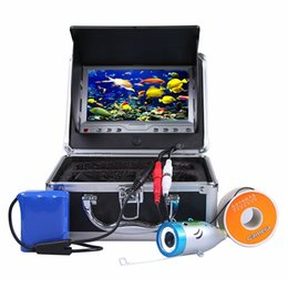 """Wholesale Underwater Fish Cameras - 7"""" Color LCD Monitor Fish Finder System 1000tvl CMOS Waterproof Camera Fishing 15m 30m Cable Underwater Fishing Video Camera with Carry Case"""