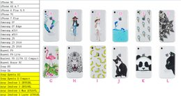 Wholesale Banana For Iphone - Flamingo Gel Feather Skull Dolphin model Clear Panada Flower Soft TPU Case For Iphone 7 Plus 6 6S Plus SE 5 5S Banana Leopard Cat Skin