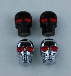 Wholesale Skull Bolts - M6 Chrome Skull Head Screws for Motorcycle Cruiser Scooter Streetbike License Plate Frame Skull Bolt for Harley Choppers