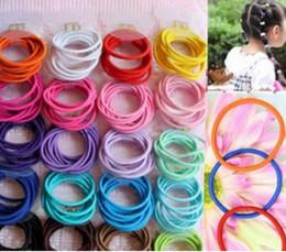 Wholesale Tiny Hair Band Elastic - Mixed Colors Baby Girl Kids Tiny Hair Bands Elastic Ties Ponytail Holder