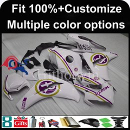 Wholesale White Repsol Fairings - 23colors+8Gifts Injection mold repsol white motorcycle cowl for HONDA CBR1000RR 2008-2011 CBR1000RR 08 11 ABS Plastic Fairing