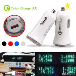 Wholesale Usb 3a Charger Car - QC3.0 Fast Car Charger Adapter High Quality LED 5V 3A USB Quick Charger 9V 2A 12V 1.5A Quick Car Charger