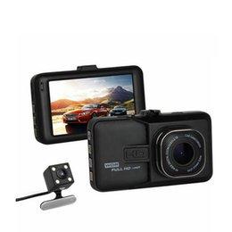 Wholesale Dual Lens Car Dvr Motion - Novatek 2 lens Car DVR Dual Camera dvrs 1080P 3 inch Full HD Video Recorder With Rear View Cameras Camcorder WDR BlackBox Dashcam