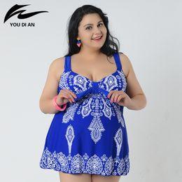Wholesale Plus Size Swim Suits - Sexy 10XL Bodysuit plus size swimwear One Piece Swimsuit print women swimming suit sweet Bathing Suit beach suit for women