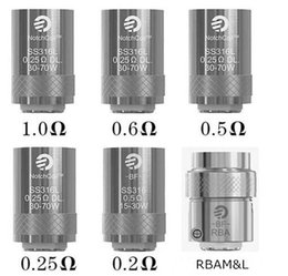 Wholesale Genuine Joyetech Wholesale - .100% Genuine Joyetech eGo Aio Coils BF SS316 0.6ohm 1.0 ohm 0.2 ohm 0.25ohm 0.5ohm BF RBA Coil Head Replacement for eGo Aio Kit