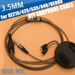 Wholesale Headphone Repair - 130cm DIY Replacement 3.5mm Audio MMCX Plug Cable Repair Headset With MIC Headphone Earphone Upgrade Cable For Shure SE215