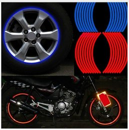 Wholesale Hot Wheels Stickers Bikes - Hot sale Polyethylene Terephthalate Wheel Sticker Reflective Rim Stripe Tape Bike Motorcycle Car Drop shipping