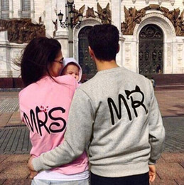 Wholesale Mr Natural - 2016 Autumn Sweatshirt Hoodies Fashion Print MR And MRS Lovers Couples Sweatshirts For Men And Women Free Shipping