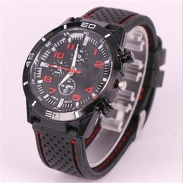 Wholesale Gt Grand Touring - Grand Touring GT Sports Watches for men unisex Luxury silicone Strap Quartz Wrist Watches Military Watches 12 colors