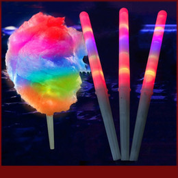 Wholesale Toys Candy Novelties Wholesale - 28*1.75CM New Kid Favor Colorful LED flashing cotton candy stick,light up novelty glow party cheering stick for concert bar