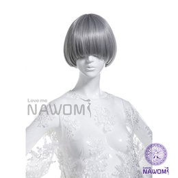 Wholesale Discounts Wigs - Free Shipping Discount wig girls and girls Qi Liuhai hair non - mainstream Meng Meng da wig head sets