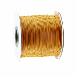 Wholesale Golden Thread Jewelry - Golden Yellow Korea Polyester Wax Cord Waxed Thread+0.5mm Jewelry Findings Bracelet Necklace Wire String Accessories+200yds roll