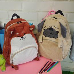 Wholesale Soft Dog Backpacks - Wholesale- Cute Animal Pattern Dog Cat Backpack Women Preppy Style School Backpacks Fashion Lady Shoulder Bag Travel Back Pack Sac A Dos