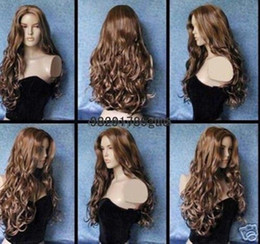 Wholesale Wig Hot Pink Long - Hot Sell!!! new high-quality sexy long brown mix wig wigs