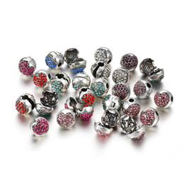 Wholesale angels clips - Clip Safety Stopper Beads Original Pave Charm Bracelet Silver Plated Safety Bead for Jewelry Making SF38