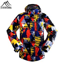 Wholesale Snow Jackets For Men - Wholesale- 2016 New Ski Jacket Men Waterproof Winter Snow Jacket Thermal Hooded Coat For Outdoor Mountain Snowboard Jacket Brand sportswear