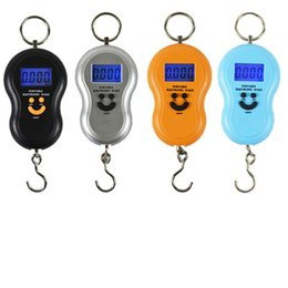 Wholesale Hook Scales - Gourd shaped portable electronic scale portable mini electronic hook scale express handing digital backLight luggage scale weighing 50kg*10g
