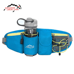 Wholesale Panniers Road Bike - LOCAL LION Waist Bag fanny pack Outdoor Water Bottle Belt Bag Running Hiking Bicycle Cycling Pannier Road Bike Ride Waist Bags 6615