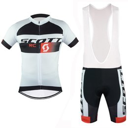 Wholesale Scott Bicycle Clothing - 2017 Scott Tour De France Cycling Jerseys Short Sleeve shirts  bib  shorts Bike Wear Quick Dry summer Bicycle Clothing ropa ciclismo B2004