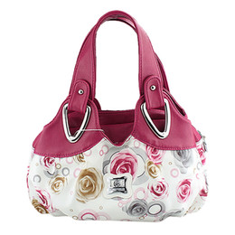 Wholesale Korean Leather Hobo Bags - Wholesale- TOYL Fashion women formal Korean style floral handbag PU leather shoulder Bags Great gift