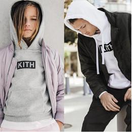 Wholesale Hip Hop Mens Sweaters - Hip hop warm sweater women men hoodie fashion sweatshirts hooded mens skateboard pullover KITH hoodies