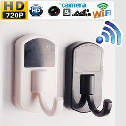 Wholesale Spy Video Camera Hook - 720P HD Spy Wireless Hidden camera WIFI IP P2P Cloths Hook Cam Video Baby monitor security Hidden camera DVR Recorder