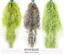 Wholesale Wall Hanging Bell - The explosion of 115cm bell wall hanging wall decoration Liu simulation plant plastic flowers, orchid rattan basket