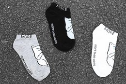 Wholesale Invisible Animal - cartoon middle finger cat unisex boat Socks soft cotton women&men cute funny Cat Pattern Harajuku ankle Invisible no show socks