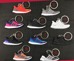 Wholesale Keychain Compass Led - Mix Cute Silicone Ad ultra boost Key Chain Sneaker sply-350 Keychain Kids Key Rings Key Holder for Woman and Girl Shoe Gifts