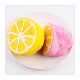 Wholesale Squishy Buns Mobile Charm - Wholesale Jumbo Squishies Slow Rising Lemon Squishy Mobile Phone Straps Keychain Soft Squishies Jumbo Buns Phone Charms Free Shipping