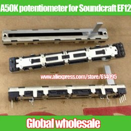Wholesale Fader Mixer - Wholesale- 2pcs mixer fader NOBLE A50K double potentiometer for Soundcraft EF12 Japan   75MM A50KX2 6 feet
