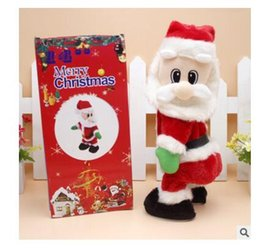 Wholesale Christmas Electric Santa - Christmas Gifts Toy Wiggle Hip Christmas Santa Claus Singing Electric Toys Twisted Hip Twerking for Kids XMAS Decorations Free Shipping